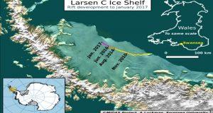 Se desprende de la Antártida un iceberg de más de seis mil kilómetros cuadrados