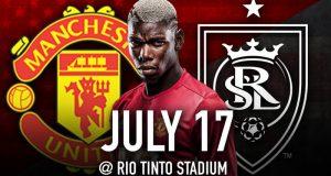 Los Diablos Rojos de Manchester United se enfrentarán en partido de pretemporada al Real Salt Lake.
