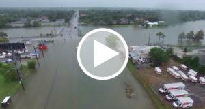 Dron graba el desastre provocado por Harvey en Houston [Video]