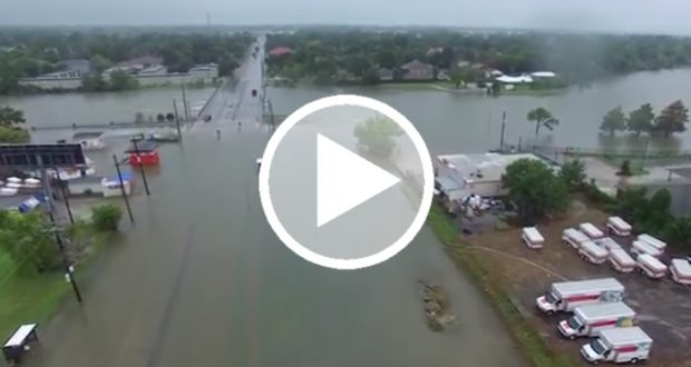 Dron graba el desastre provocado por Harvey en Houston [Video]