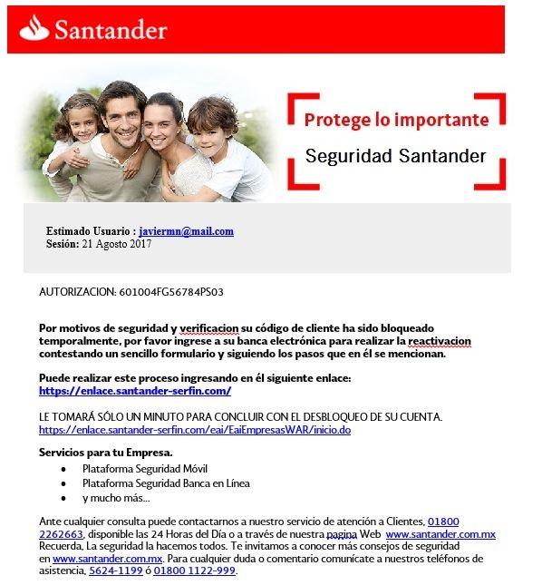 Santander phisihing