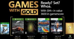 Microsoft anunció los cuatro videojuegos que se podrán descargar de forma gratuita a través del programa Games With Gold durante el mes de septiembre 2017 exclusivamente para miembros Xbox Live Gold.