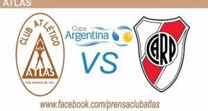 River Plate se enfrentará a Atlas en los treintaidosavos de final de la Copa Argentina 2017. RIver llega como campeón y es el gran favorito para avanzar a la siguiente ronda y retener su título, mientras que Atlas busca dejar su marca.