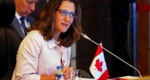 Ministra de Asuntos Exteriores de Canadá, Chrystia Freeland