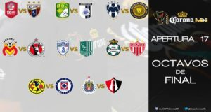 Dos equipos del Ascenso MX y catorce de la Liga MX buscarán coronarse. Destacan América vs. Cruz Azul y Chivas vs. Atlas