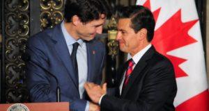 Justin Trudeau y Enrique Peña Nieto en México