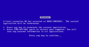 La pantalla azul de antaño de Windows está misteriosamente regresando en el acual sistema operativo de Microsoft.