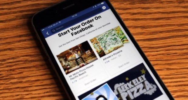 Facebook estrena un servicio de pedido de comida online