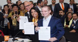 Zavala, Moreno Valle y Aureoles piden elección ciudadana para elegir candidato del Frente Ciudadano