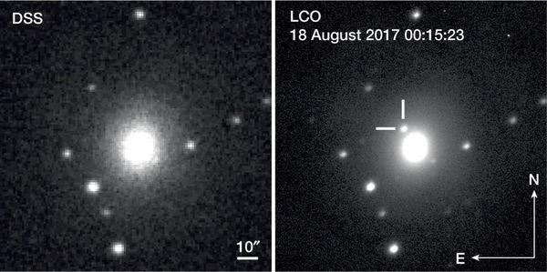 Luz visible de una galaxia