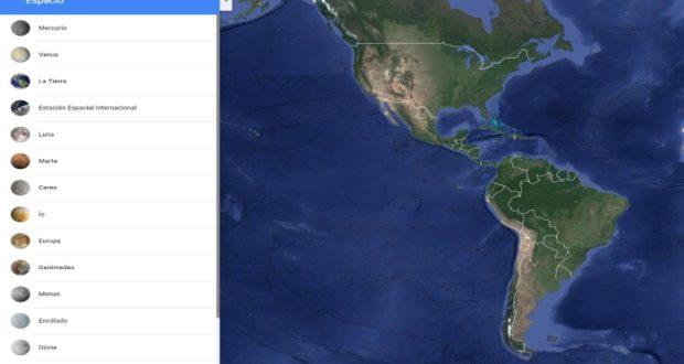 Estos son los planetas que se pueden explorar mediante Google Mapas
