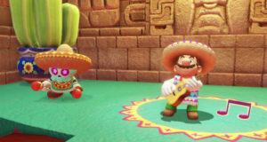 Super MArio Odyssey contiene figuras, imágenes y enemigos sobre la cultura mexicana.