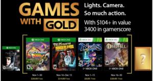 Los juegos disponibles son Deadfall Adventures, NiGHTS into dreams, Trackmania Turbo, Tales from the Borderlands