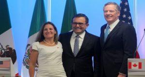 Ministros de Canadá, México y EU mandan señales que las negociaciones del TLCAN retoman fuerza