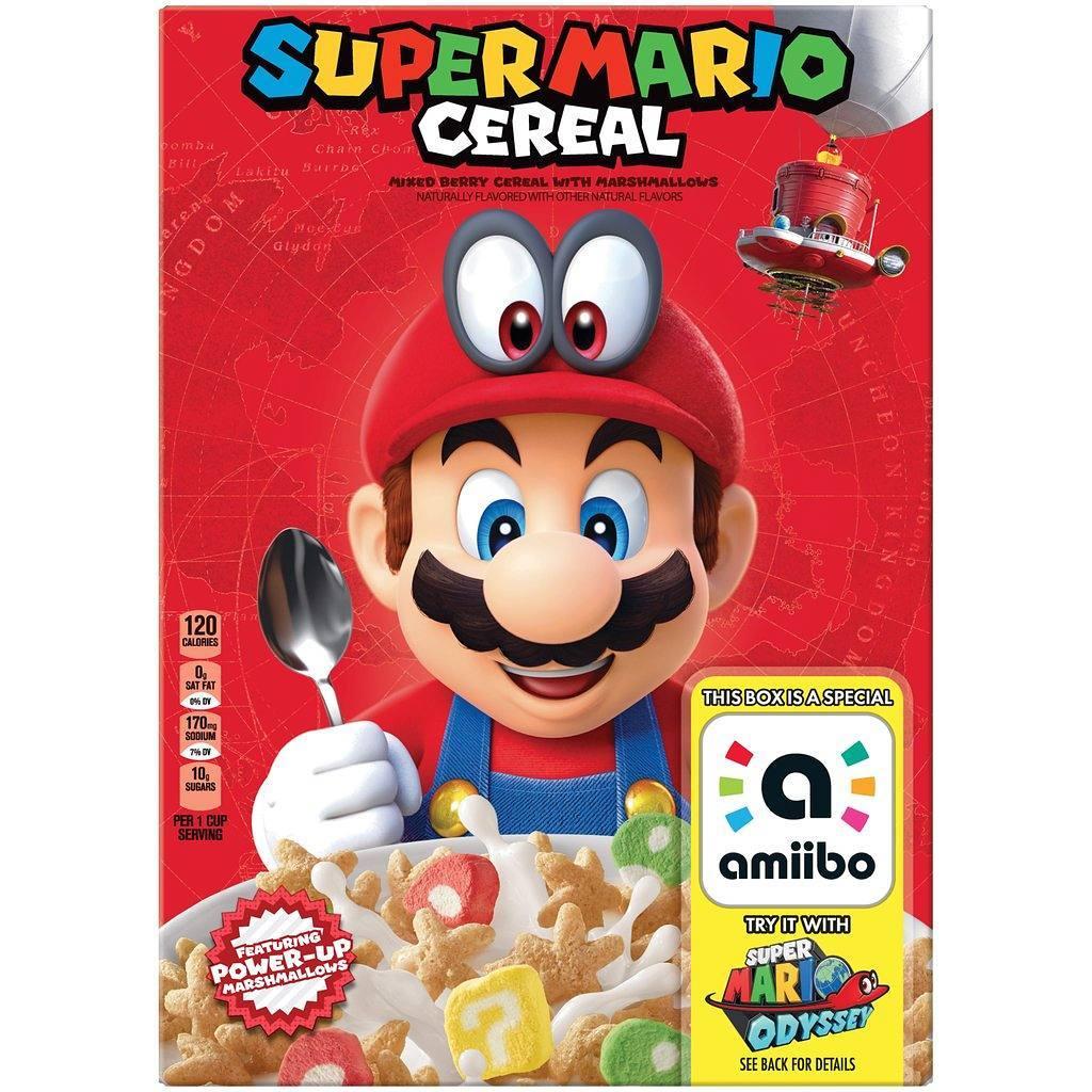 Nintendo y Kellogg's se alian para crear un cereal opara niños inspirado en la imagen de la franquicia de Super Mario, el cual, estará llegando a los Estados Unidos.