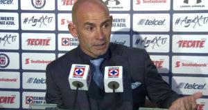 Director Técnico del Club de Fútbol Cruz Azul, Paco Jémez, anunció su renuncia al final del año.