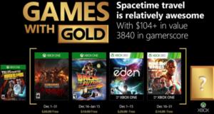 Estos son los videojuegos que Microsoft pondrá disponibles para descargar de forma gratuita mediante el programa Games With Gold en el mes de diciembre 2017