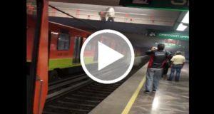 Documentan un incendio en vías del Metro pero la STC reportó un incidente menor