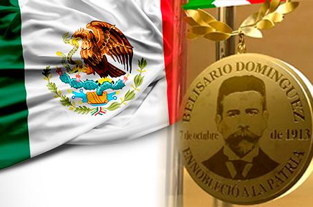 Medalla Belisario y bandera