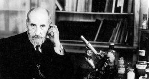 Ramon y Cajal-microscopio