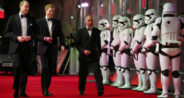 Los príncipes de Reino Unido asistieron a la premier de Star Wars Episodio VIII
