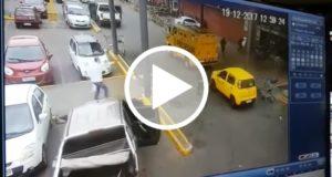 En menos de un minuto roban todo el dinero de un camión blindado [Video]