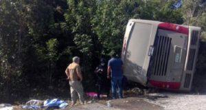 Accidente de autobús en Quintana Roo deja 12 turistas muertos