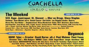 Este martes, el festival de música y artes Coachella dio a conocer su cartel oficial para su edición 2018, destacando a Beyoncé, Eminem y The Weeknd como los artistas principales.