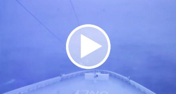 Pasajeros de un crucero graban el poder de la bomba meteorológica que azotó EU