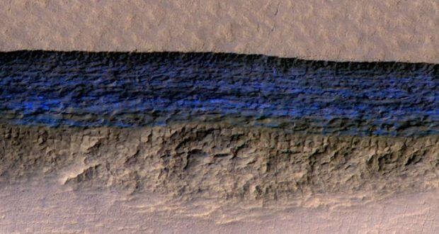 NASA localiza glaciares bajo la superficie de Marte