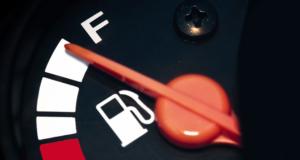 Indicador de gasolina en un auto