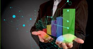 Gráfica digital de crecimiento económico