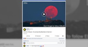 Video falso de la Superluna azul logra 16 millones de visitas en Facebook