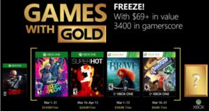 Microsoft anunció los cuatro videojuegos que se podrán descargar de forma gratuita en las consolas Xbox One y Xbox 360 a través del programa Games With Gold durante el mes de marzo 2018 exclusivamente para miembros Xbox Live Gold.