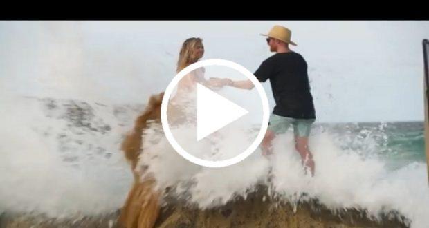 La modelo Kate Upton sufre aparatosa caída durante una sesión fotográfica [Video]