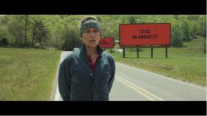 Frances McDormand como Mildred Hayes en Tres anuncios por un crimen