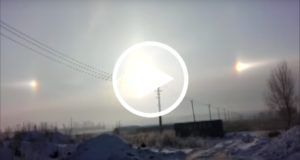 Una ciudad china amanece con tres soles sobre el cielo [Video]