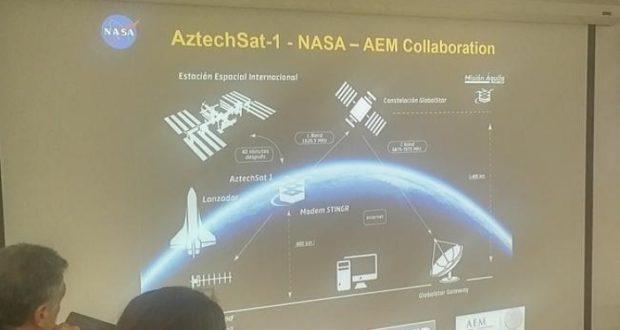 """Aprueban lanzamiento de nanosatélite mexicano """"AzTechSat-1"""" desde la Estación Espacial"""