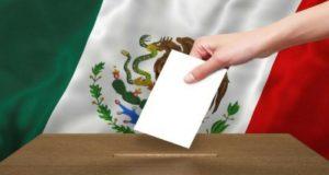 votaciones en México, Urna y bandera