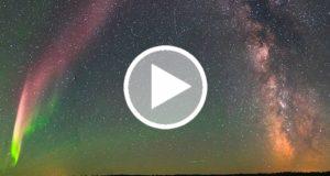 Explican el origen de las luces púrpuras observadas en Canadá [Video]
