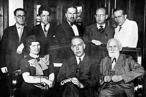 Bohr y su esposa