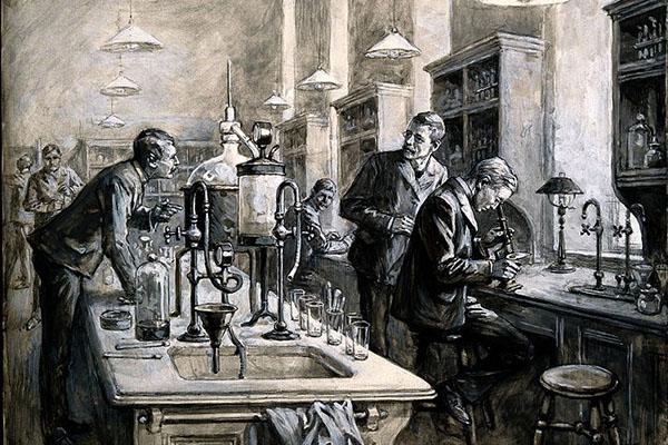 Charles Sherrington y colegas