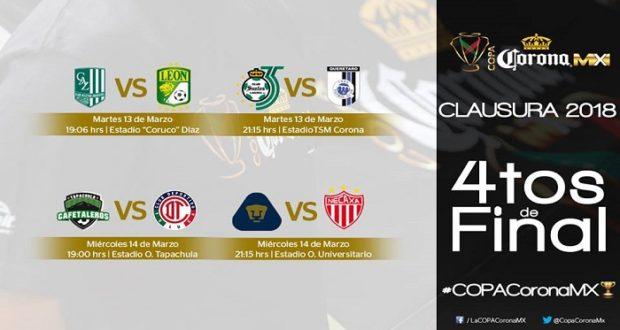 Copa MX Clausura 2018: Fechas y horarios de los cuartos de final