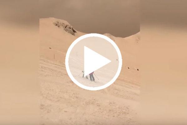 Fenómeno atípico de nevadas amarillas se registra en Sochi [Video]