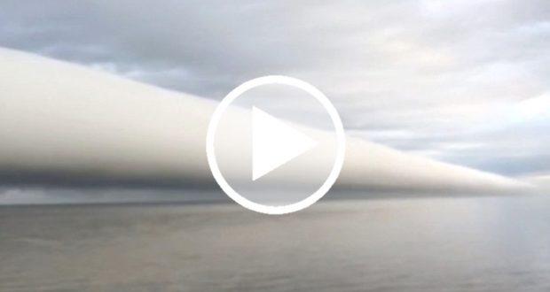 Fenómeno meteorológico grabado en el cielo de Nueva Orleans
