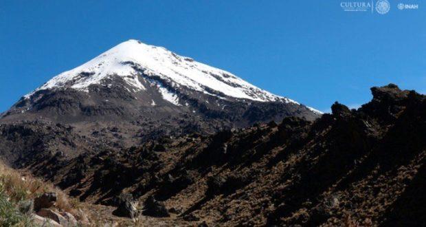 Localizan sitio arqueológico en el Pico de Orizaba con ayuda de un dron