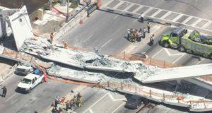 Colapso de puente peatonal en Miami deja como saldo 6 personas fallecidas