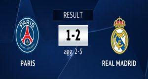 Real Madrid elimina al PSG en la UEFA Champions League y espera rival en cuartos de final
