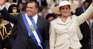osa Elena Bonilla y ex presidente de Honduras