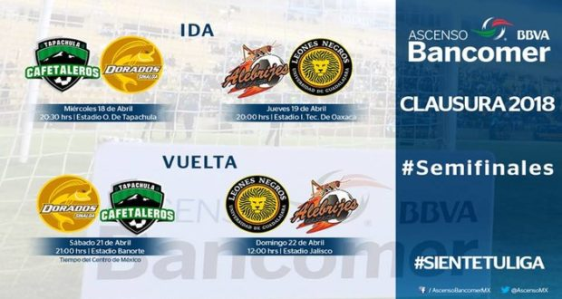 Las semifinales de la Liga de Ascenso del futbol mexicano se definieron este fin de semana, mientras que hoy ya se dieron a conocer fechas y horarios.